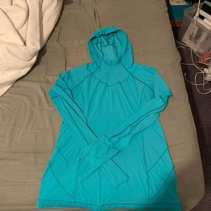 LULULEMON thin, first lay running shirt with hood
